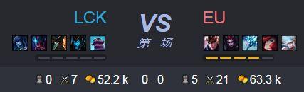 【战报】欧洲队完美发挥碾压LCK